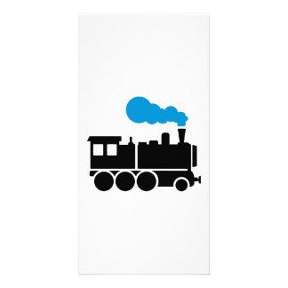Locomotora Plantilla Para Tarjeta De Foto