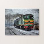 Locomotora rusa del tren puzzles