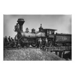 Locomotora temprana del ferrocarril impresiones