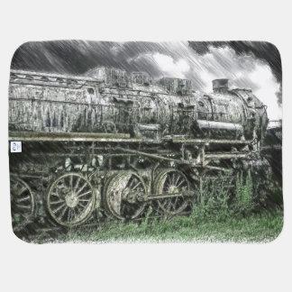 Locomotora vieja mantas de bebé