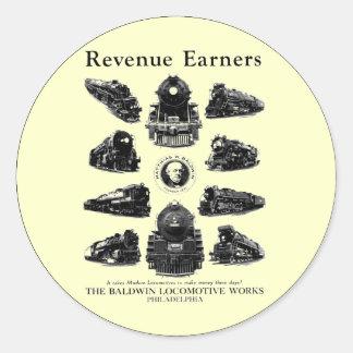 Locomotoras de Baldwin, adquirentes de los Pegatina Redonda