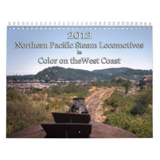 Locomotoras de vapor pacíficas septentrionales en  calendario