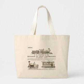 Locomotoras del ferrocarril de H K Porter & Compan Bolsa Tela Grande