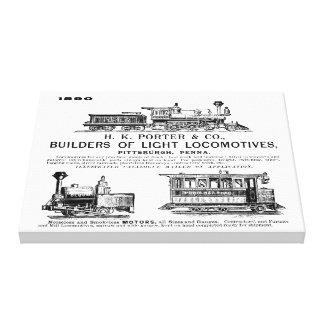 Locomotoras del ferrocarril de H K Porter & Impresion De Lienzo