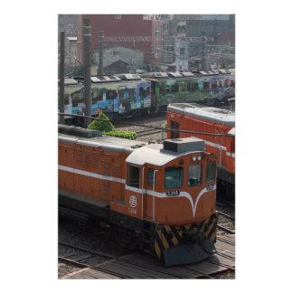 Locomotoras en la casa de máquinas de Changhua Ta Cojinete