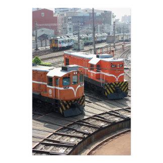 Locomotoras en la casa de máquinas de Changhua Ta Impresiones Fotograficas