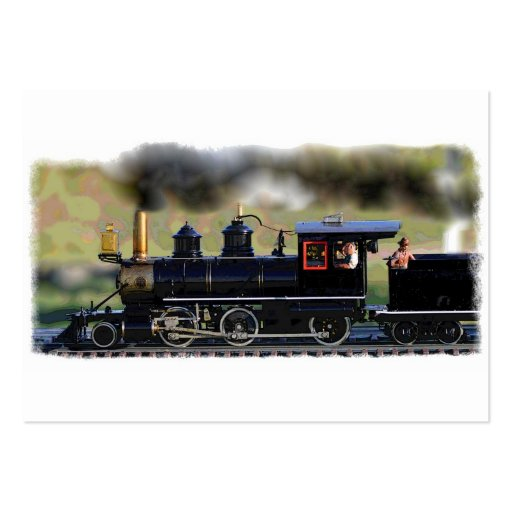 Locomotoras modelo tarjetas de visita grandes