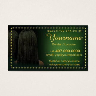 Loctician Hair Braider Salon Braids Business Card