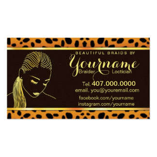 Loctician Hair Braider Salon Business Card Business Card Template