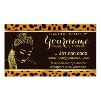 Loctician Hair Braider Salon Business Card Business Card Template
