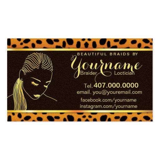 Loctician hair braider salon business card zazzle for Hair braiding business cards