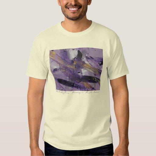 Locura abstracta de la púrpura de la pintura 41 camisas