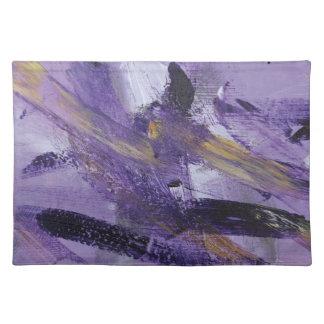 Locura abstracta de la púrpura de la pintura 41 manteles