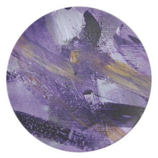 Locura abstracta de la púrpura de la pintura 41 platos