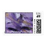 Locura abstracta de la púrpura de la pintura 41 envio