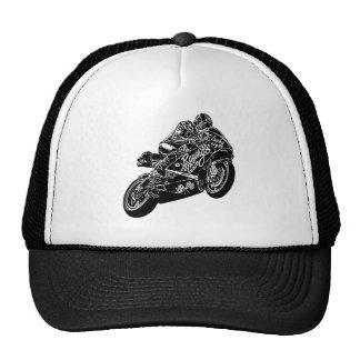 Locura de la motocicleta gorros