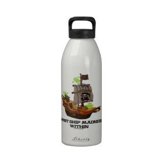 Locura de la nave del fantasma dentro (insecto Dro Botella De Agua Reutilizable