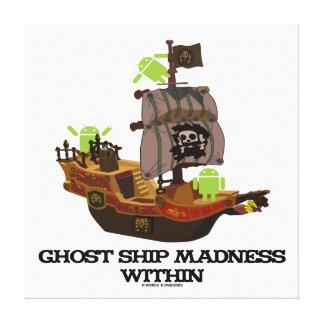 Locura de la nave del fantasma dentro insecto Dro Impresión En Lona