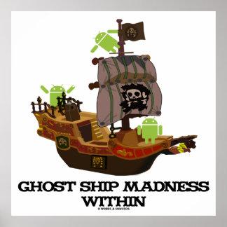 Locura de la nave del fantasma dentro insecto Dro Posters