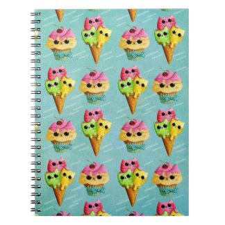 Locura de los gatos del gatito del verano notebook