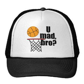Locura del baloncesto gorras de camionero