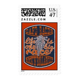 Locura del corredor del café timbres postales