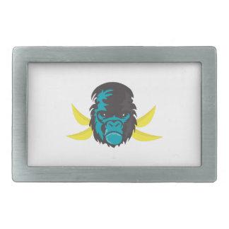 Locura del gorila hebilla cinturon rectangular