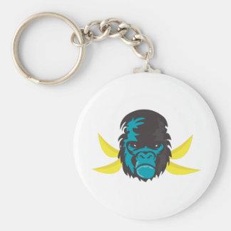 Locura del gorila llavero personalizado