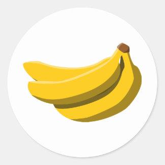 ¡Locura del plátano! Pegatina Redonda