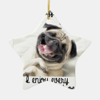 locura divertida del barro amasado adorno navideño de cerámica en forma de estrella
