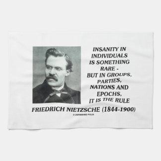 Locura en individuos algo Nietzsche raro Toallas De Cocina