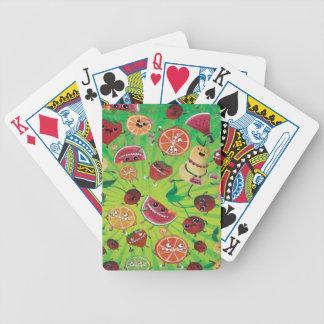 Locura linda de la fruta baraja cartas de poker