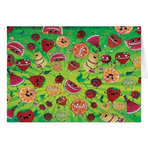 Locura linda de la fruta tarjeta