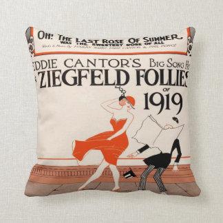 Locuras 1919 de Ziegfeld del vintage Cojín Decorativo
