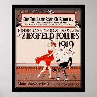 Locuras de Ziegfield del vintage de 1919 Póster