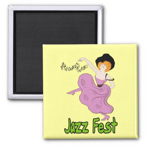 Locuras del Fest del jazz Iman Para Frigorífico