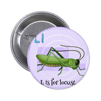 Locust 2 Inch Round Button