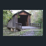 """Locust Creek Covered  Bridge Canvas print<br><div class=""""desc"""">One of only four historical covered bridges left in the state of Missouri. Photo taken by the designer in October 2017</div>"""