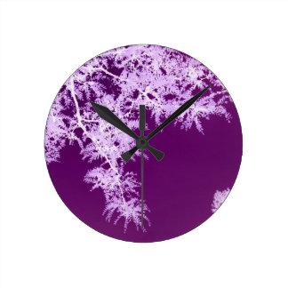 Locust Leaves I Round Clock