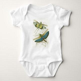 Locusta Cristata (lower), Locusta flava (upper) Baby Bodysuit