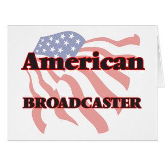 Locutor americano tarjeta de felicitación grande