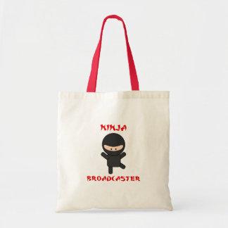 locutor del ninja bolsa tela barata