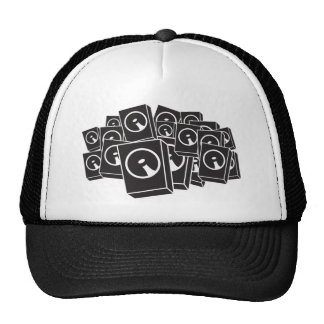 Locutores - disc jockey de DJ DJing de la música Gorra