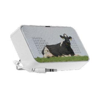Locutores portátiles del viaje de la vaca que escu mp3 altavoces