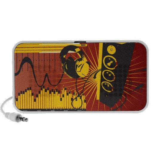 Locutores y locutor del Doodle de las auriculares Altavoz De Viaje