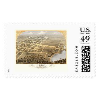 Loda, IL Panoramic Map - 1869 Postage