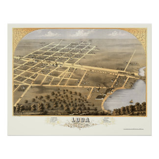 Loda, IL Panoramic Map - 1869 Poster