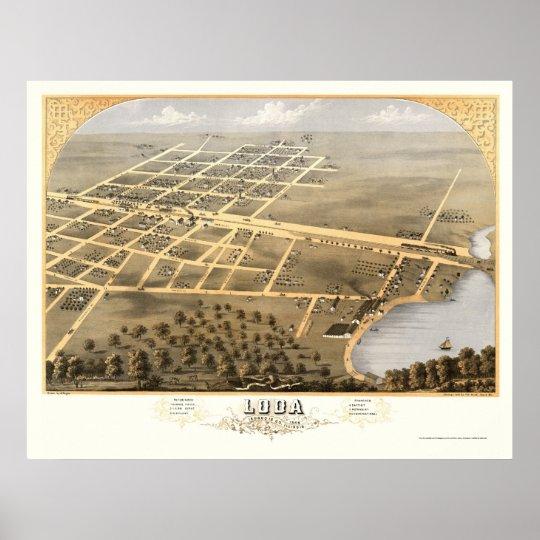 Loda, IL Panoramic Map - 1869 Poster