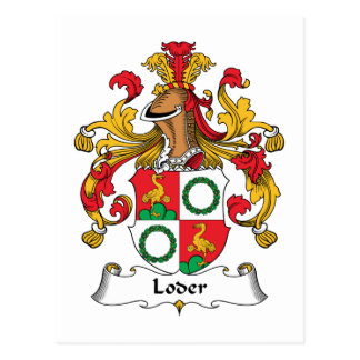 Loder Family Crest Post Card
