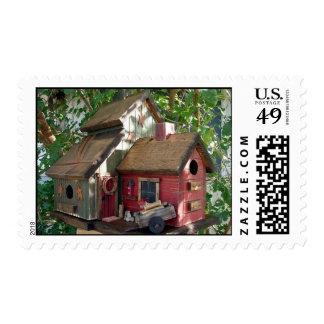"""Lodge Birdhouse """"tweet tweet"""" Postage"""